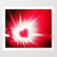 Heart boom Art Print