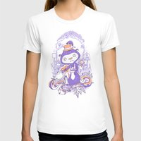 Tea Monkey Tea Party Womens Fitted Tee White SMALL