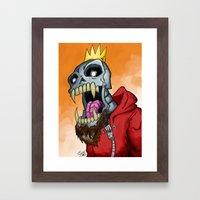 Jackhook Metal Skeleton Framed Art Print