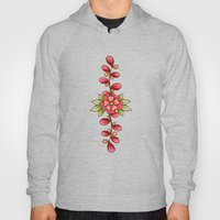 Red Sweet Flowers Hoody