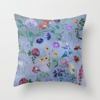Carpe Diem (flower collection) Throw Pillow