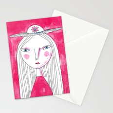 Hat Girl Stationery Cards