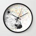 Polar Bear // Endangered Animals Wall Clock