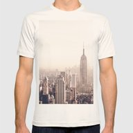 New York City Above The … Mens Fitted Tee Natural SMALL