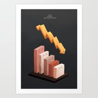 Cute Global Economic Crisis Art Print