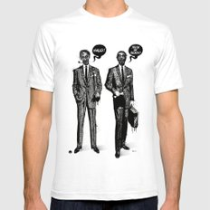 HALLOWEEN ZOMBIES SMALL Mens Fitted Tee White
