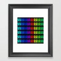 Rainbow King Bear Framed Art Print