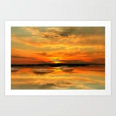 Watching the sunset Art Print