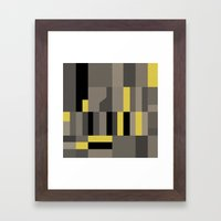 White Rock Yellow Framed Art Print