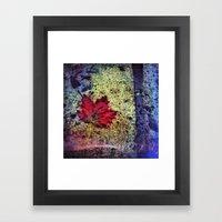 Fall Maple Framed Art Print