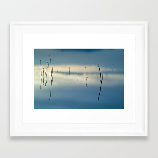 Blue dreams Framed Art Print