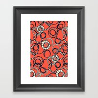 Honolulu hoopla orange Framed Art Print