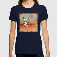 Mend Yourself Womens Fitted Tee Navy SMALL