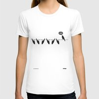 WTF? Bird Womens Fitted Tee White SMALL