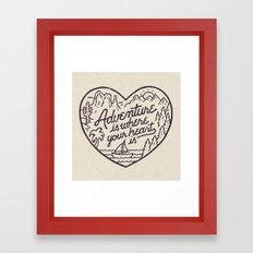 Adventure Is Where Your … Framed Art Print