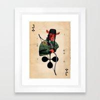 LANCELOT DU LAC Framed Art Print