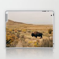 Bison Bull On Antelope I… Laptop & iPad Skin