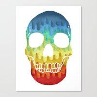 Paper Skull Canvas Print