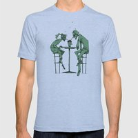 Date Night Mens Fitted Tee Athletic Blue SMALL