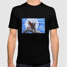 Something in the Wind... Black SMALL Mens Fitted Tee