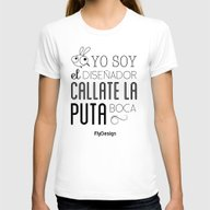 Yo Soy Womens Fitted Tee White SMALL