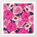 enamel floral Art Print