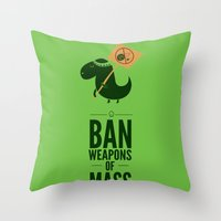 Occupy Jurassic Park Throw Pillow