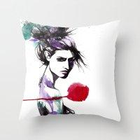 Broken Hearted Throw Pillow
