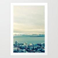 Blue Reykjavik - Iceland Art Print