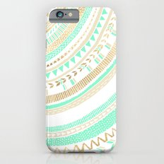 Mint + Gold Tribal iPhone 6 Slim Case
