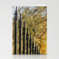 Iron Fence, Yellow Leave… Stationery Cards