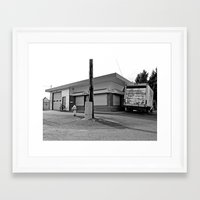 Framed Art Print featuring Little warehouse by Vorona Photography