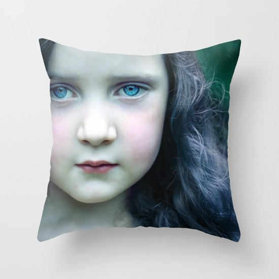 Even in my alternate universe, the rain makes my hair curl.  Throw Pillow