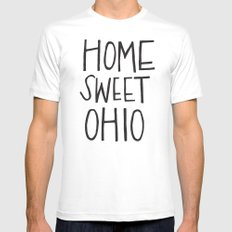 Home Sweet Ohio SMALL White Mens Fitted Tee