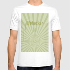 Essence of Lifehacker White SMALL Mens Fitted Tee