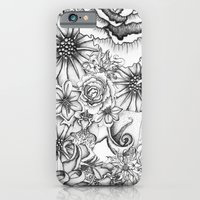 iPhone & iPod Case featuring B&W Flowers  by Nora