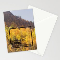 darling, autumn leaves are falling Stationery Cards