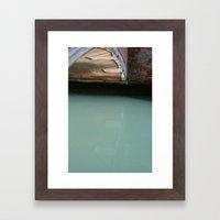 Venice Bridge Reflection Framed Art Print