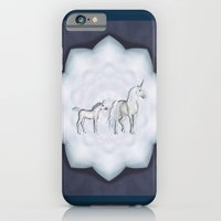 iPhone & iPod Case featuring FANTASY - Unicorns by Valerie Anne Kelly