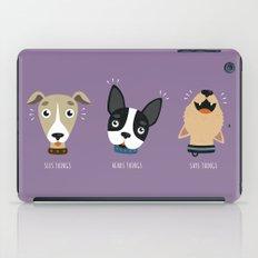 Three wise dogs iPad Case