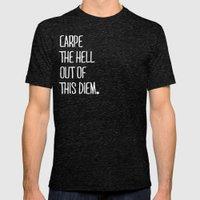 Carpe Diem ///www.pencil… Mens Fitted Tee Tri-Black SMALL