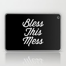 Bless This Mess Funny Quote Laptop & iPad Skin