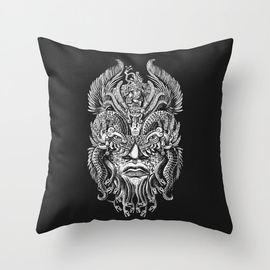 Queztalcoatl Throw Pillow