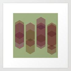 #56 Pillars  – Geometry Daily Art Print