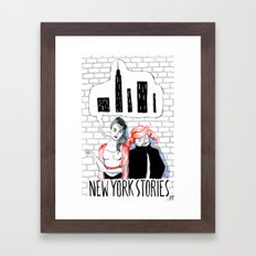 New York Stories Limited Edition Poster Framed Art Print