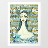 Flowerella 2 Art Print