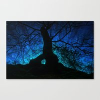 Tree Under A Spangled Sk… Canvas Print