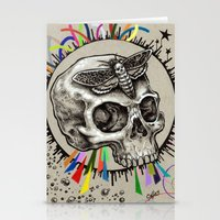 Skull and Hawkmoth Stationery Cards