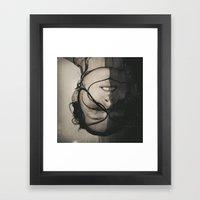 WHERE WE LAY Framed Art Print