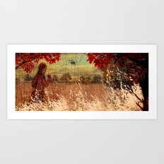 By the woods Art Print